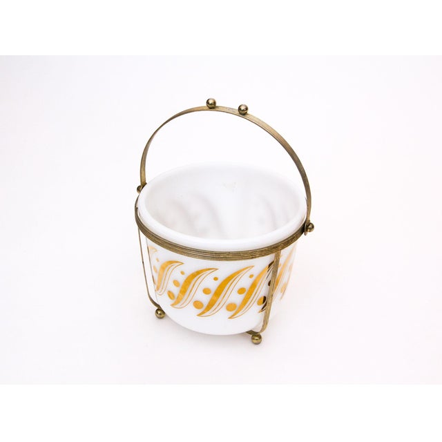 Image of Mid-Century Ice Bucket W/ Brass Caddy