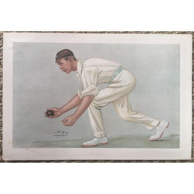 Digby Loder Jephson Vanity Fair Cricket Print - Image 2 of 5