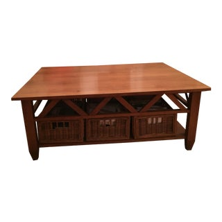 Solid Wood Ethan Allen Coffee Table