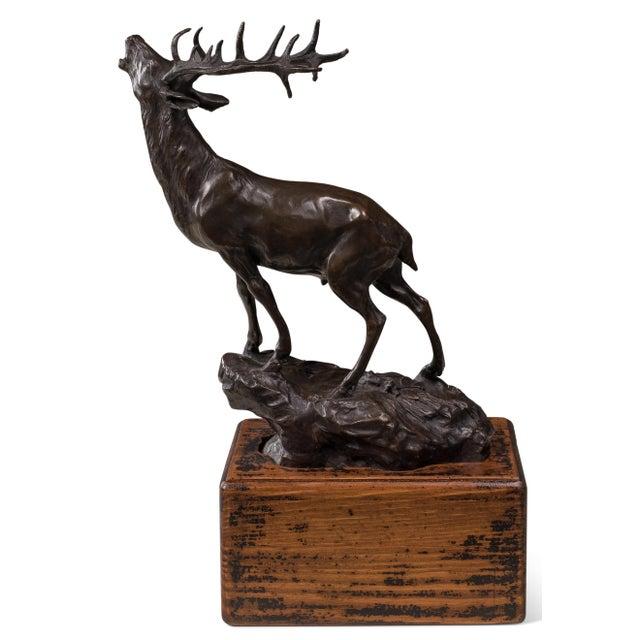 Image of Sarreid LTD Bronze Bugling Elk Figure