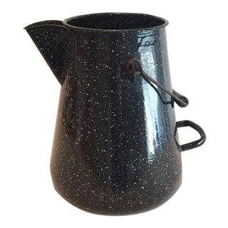 WW2 Navy Black Speckled Enamel Coffee Pot
