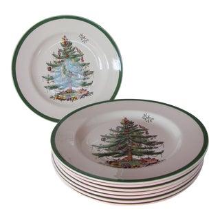 Spode Christmas Tree Dinner Plates - Set of 8