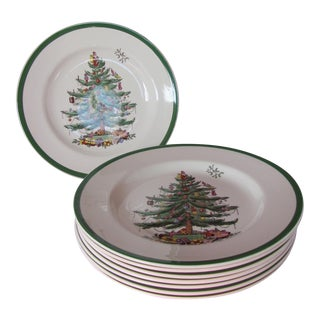 Spode Christmas Tree Dinner Plates - Set of 8