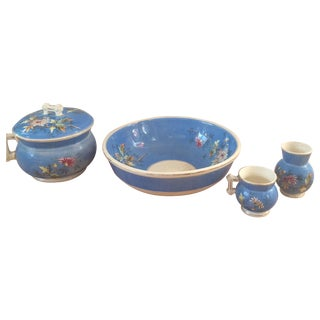 Chinoiserie Floral Bowl, Terrine, and Vase Set