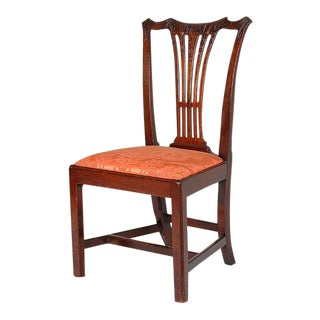 Six Carved Mahogany Chippendale Side Chairs