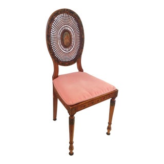 Painted Cane Side Chair