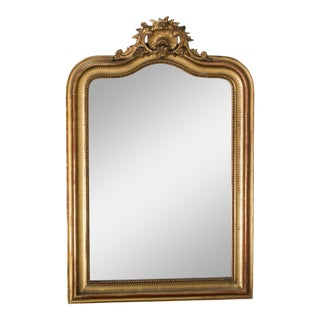 Antique French Louis Philippe Gold Mirror circa 1890