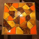 Image of 60's Handmade Mosaic Side Tables - Pair