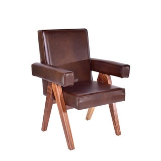 Mid-Century Modern Inspire Leather Dining Chair