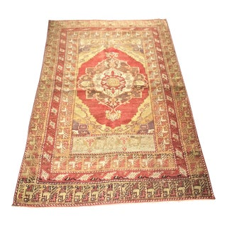 "Bellwether Rugs Vintage Turkish Oushak Area Rug - 3'9""x5'8"""