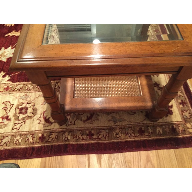 Wood & Glass Side Tables - A Pair - Image 5 of 6