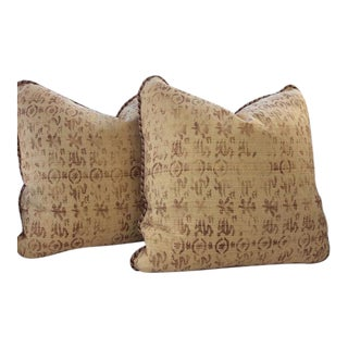 Rose Tarlow for Melrose House Medici Sienna Pillows - a Pair