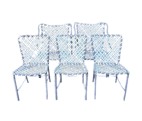 Vintage Brown Jordan Patio Chairs   Set Of 5 Part 98