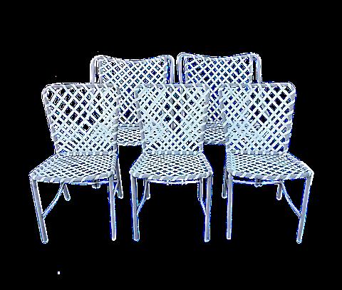 Vintage Brown Jordan Patio Chairs   Set Of 5 Part 98