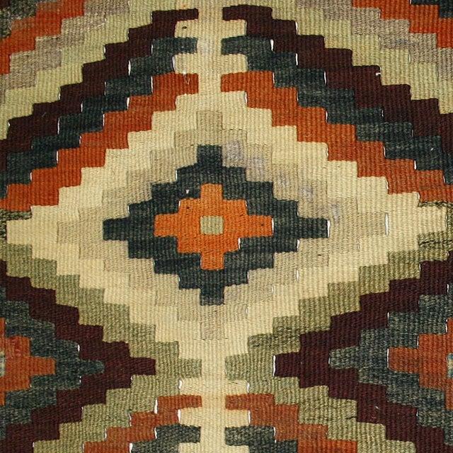 Image of Striking Earth Tone Vintage Kilim - 2'11 X 12'1