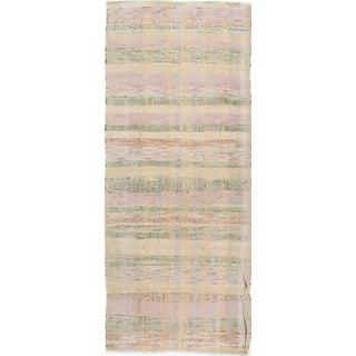 """Vintage Pastel Colors Turkish Kilim - 3'3"""" X 8'4"""""""