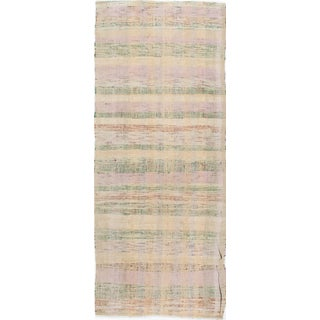 "Vintage Pastel Colors Turkish Kilim - 3'3"" X 8'4"""
