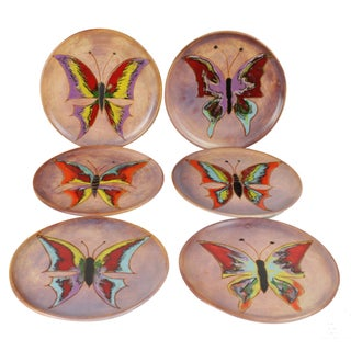 Mid-Century Butterfly Plates - S/6