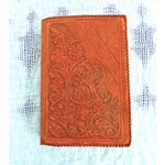 Image of Mid-Century Hand-Crafted Brown Leather Book Cover