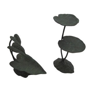 Water Lily Sculptures - A Pair