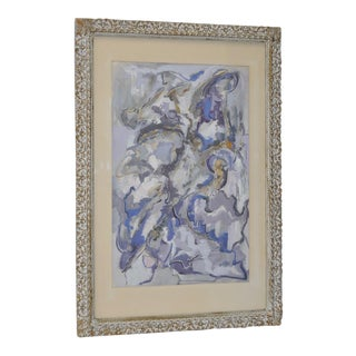 "Winifred Shaffer ""Lavender Light"" Mixed Media Painting c.1964"