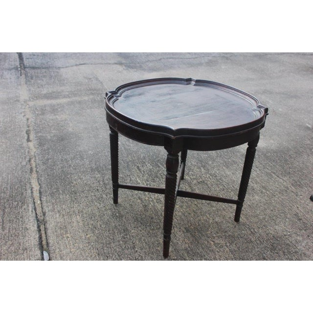 Antique 1920s Round Barley Leg Side Table - Image 2 of 4
