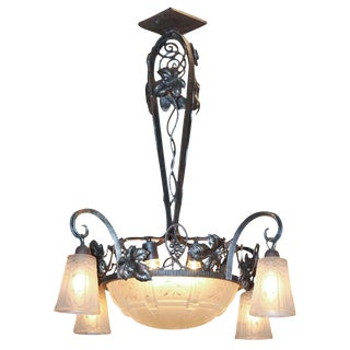 Art Deco Iron Chandelier
