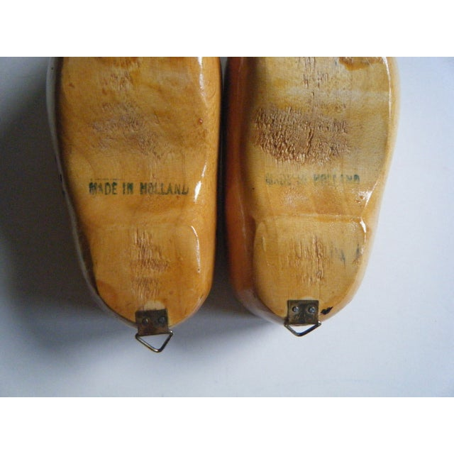 Image of Miniature Wooden Shoes From Holland - a Pair