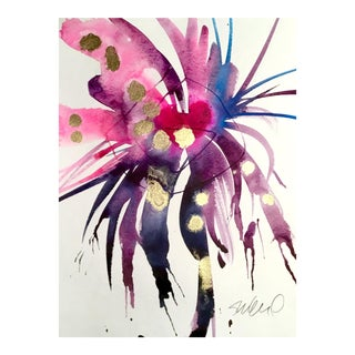 Violet Indigo Bloom Painting