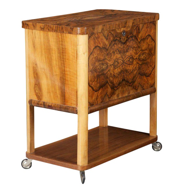 French Art Deco Liquor Cabinet Cart - Image 1 of 5