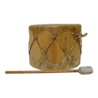 African Hide & Wood Drum