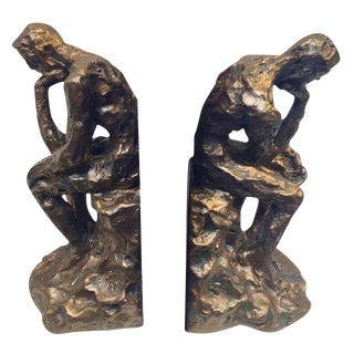 Brutalist Thinking Man Bookends- A Pair