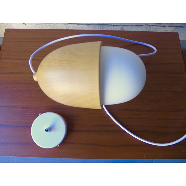 Mid Century Modern Styled Acorn Pendant Lamp - Image 5 of 6