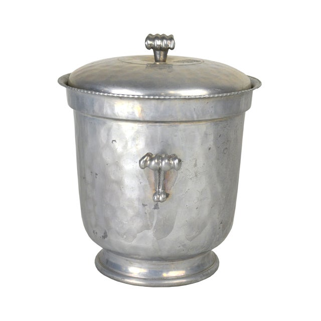 Vintage Hammered Aluminum Ice Bucket - Image 2 of 4
