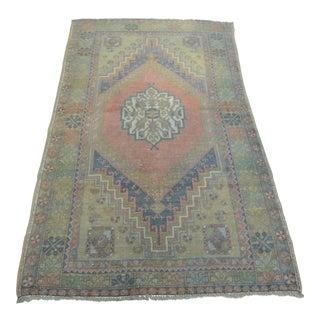 Tribal Turkish Handmade Carpet - 3′8″ × 6′6″