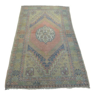 Tribal Turkish Handmade Carpet - 3′8″ × 6′6″