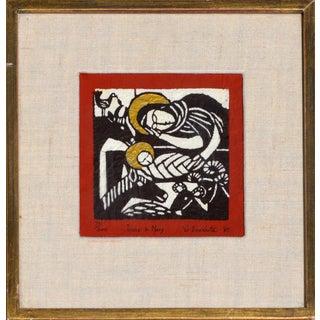 Jesus & Mary Woodblock Print