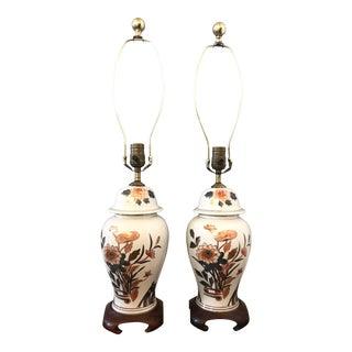 Vintage Ginger Jar Lamps - A Pair