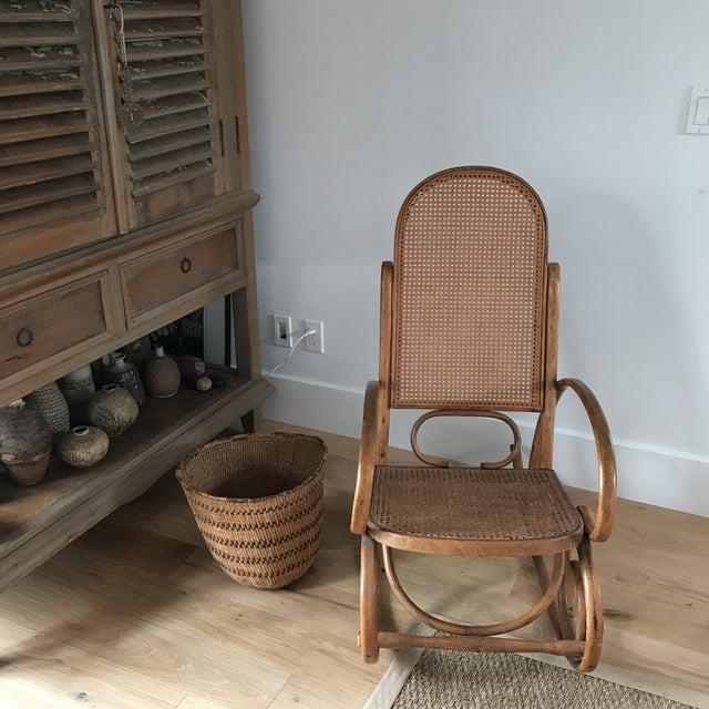 Spanish Bentwood Rocking Chair Rocker - Image 3 of 10