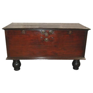 Mid 19th Century British Colonial Large Trunk