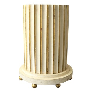 20th Century Cream Painted Column