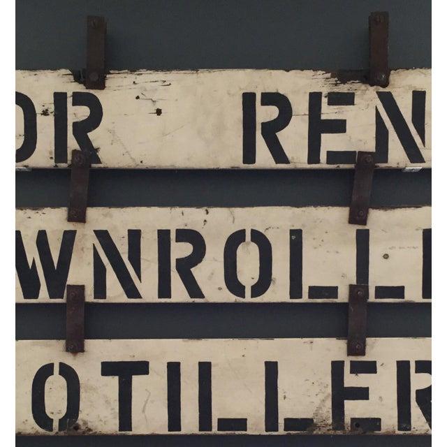 Vintage 'For Rent' Farm Sign - Image 4 of 4