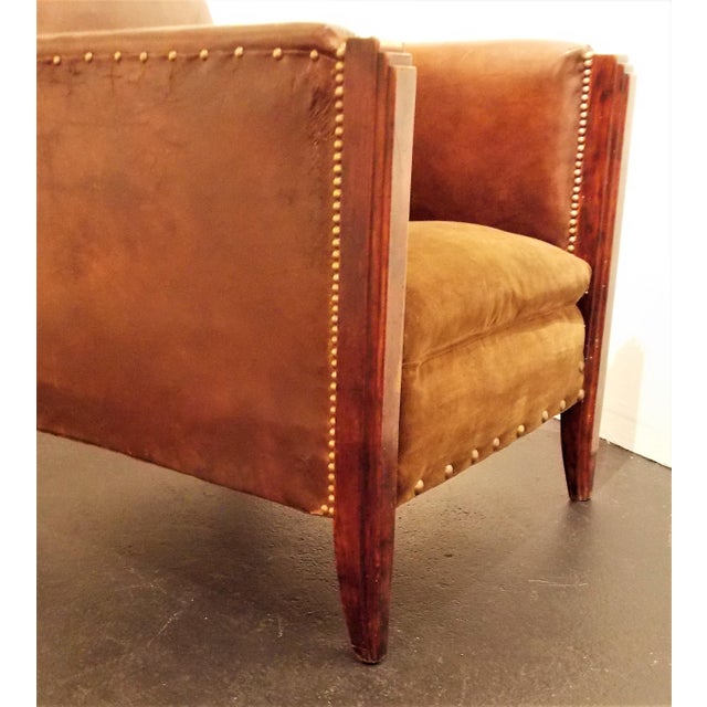 Vintage French Leather Club Chair - Image 7 of 8