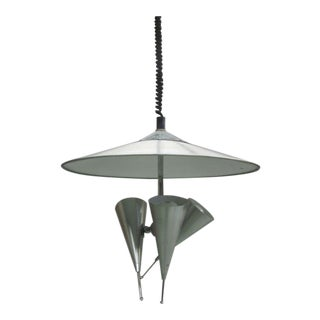 Italian Tri-Reflector Pendant Attributed to Stilnovo