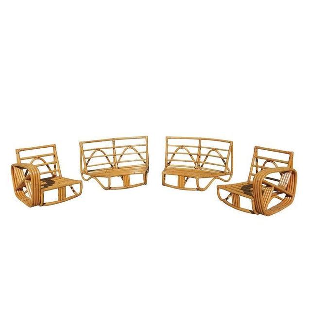 Paul Frankl Four Strand Rattan Six-Seat Corner Sectional Sofa - Image 3 of 9