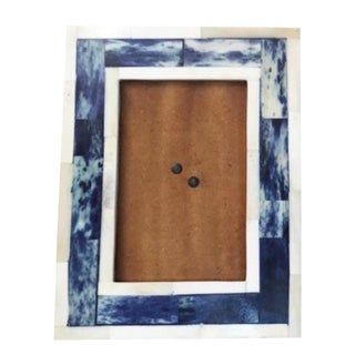 inlaid cobalt blue picture frame