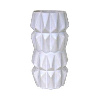 Scandinavian Handmade White Vase