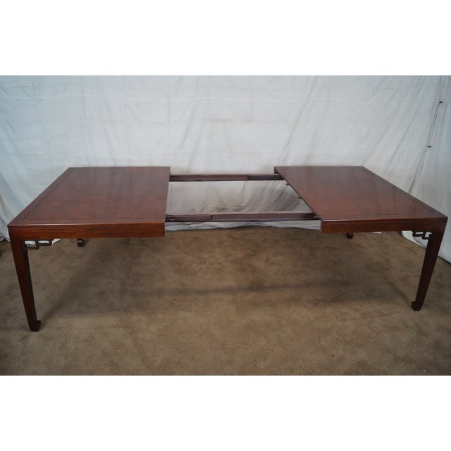 Baker Far East Collection Mahogany Dining Table - Image 7 of 10