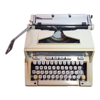 Vintage 1970's Hermes 3000 / Media Portable Typewriter