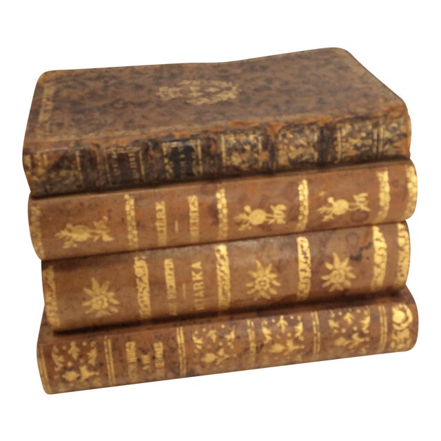 Stack of Books Leather Box - Image 1 of 8